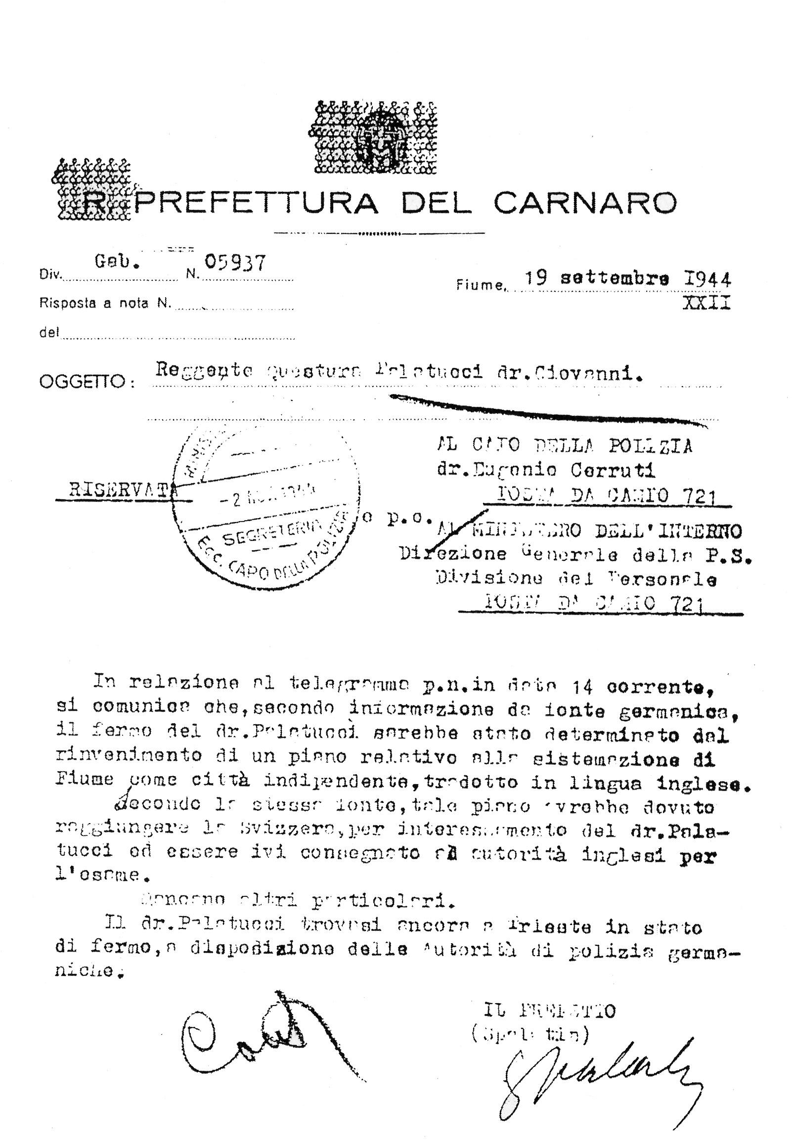 Arresto di Giovanni Palatucci
